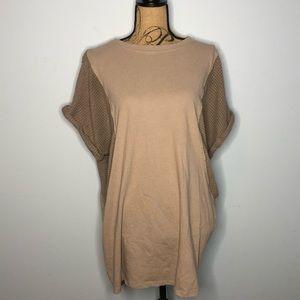 Umgee Waffle Knit Dress Sz Small Mocha & Gray